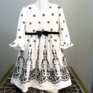 YOUNGLAND Black and White Floral Party Dress 5